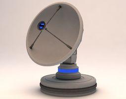 3d model rigged radiotelescope observatory satellite antenna