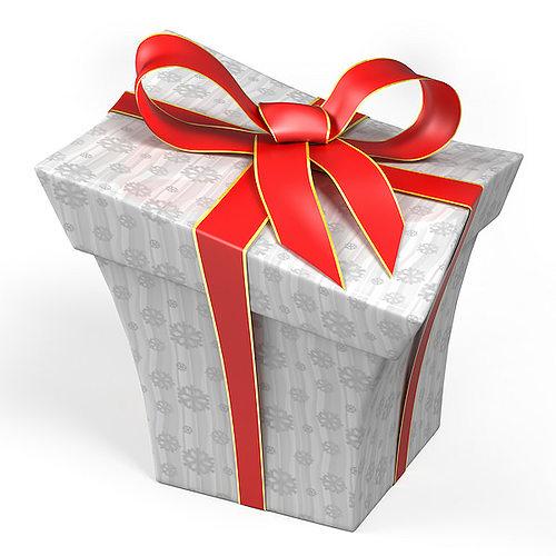 Cartoon style gift box d model obj ds blend mtl