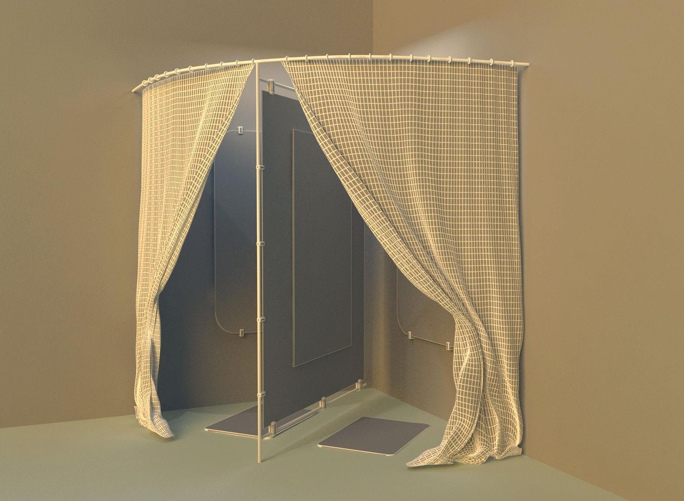 Dressing Room 3d Model Max Obj 3ds Fbx Mtl