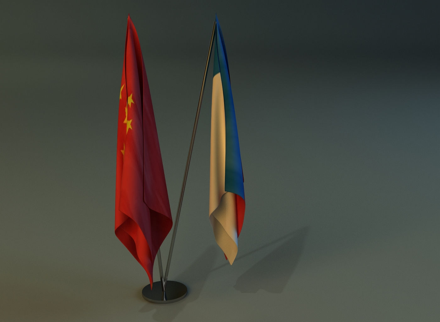 Flag Stand Two 3d Model Cgtrader