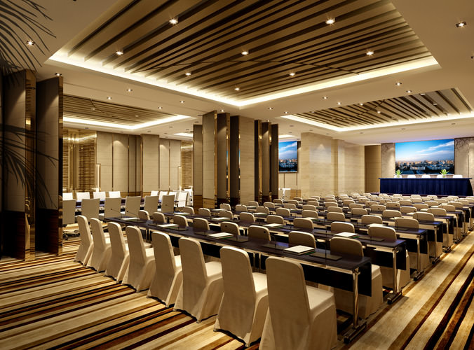 3D Huge Conference room | CGTrader
