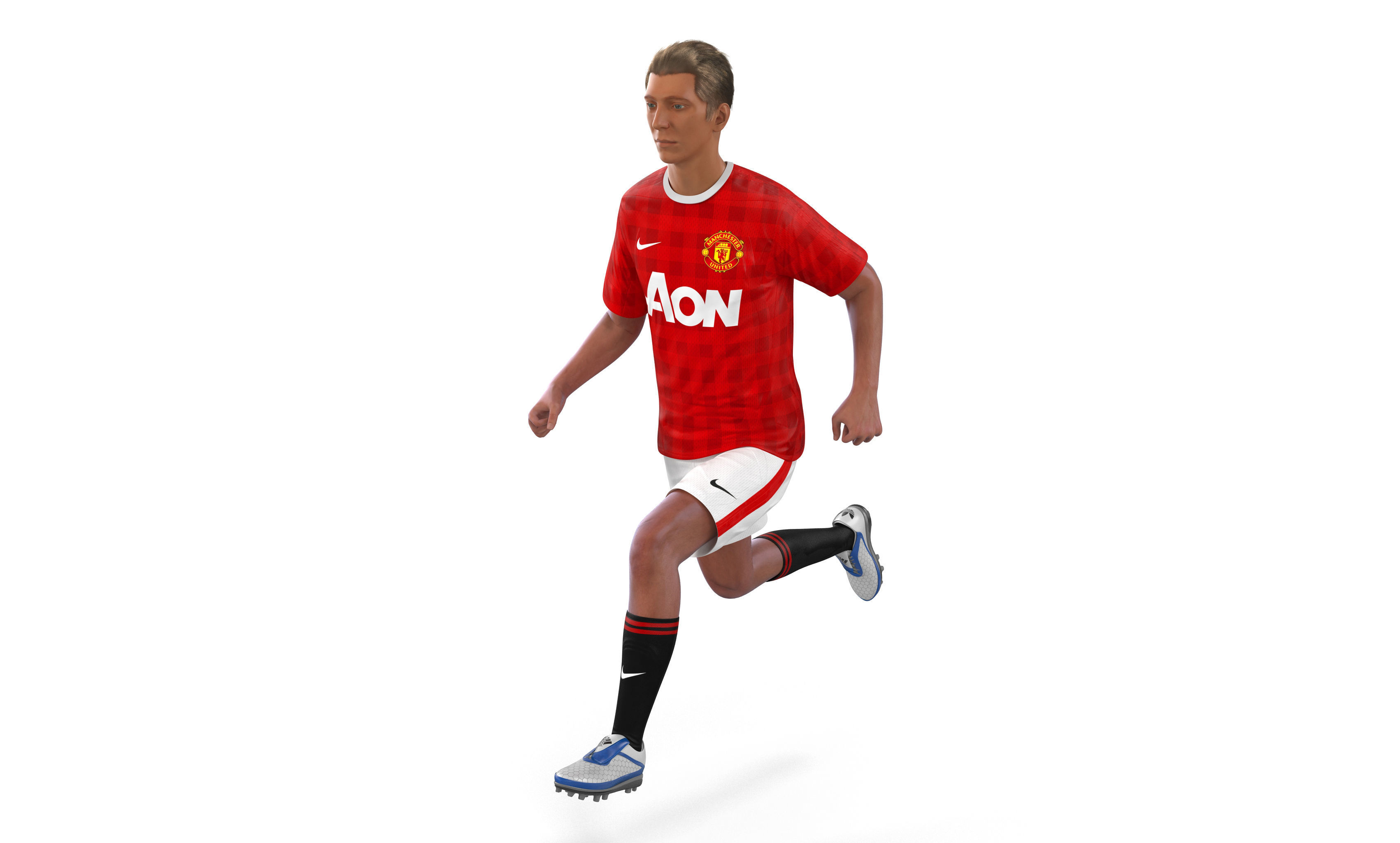 Soccer Player Manchester United Rigged 2 3D Model