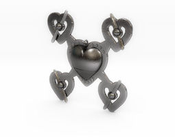 3D print model Hearts Drone Pendant