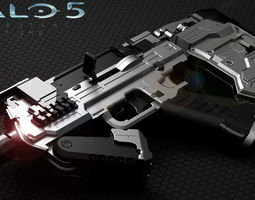3d printable model halo 5 smg