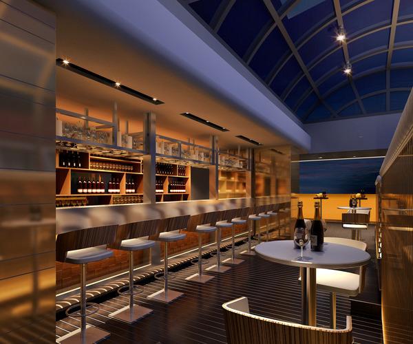 3d bar cafe cgtrader for Food bar 3d model