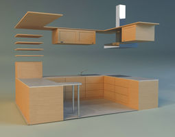 3d model kitchen 10