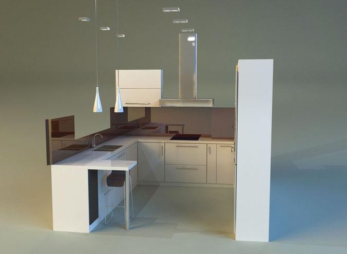 kitchen 3d model max obj mtl 3ds fbx stl 1
