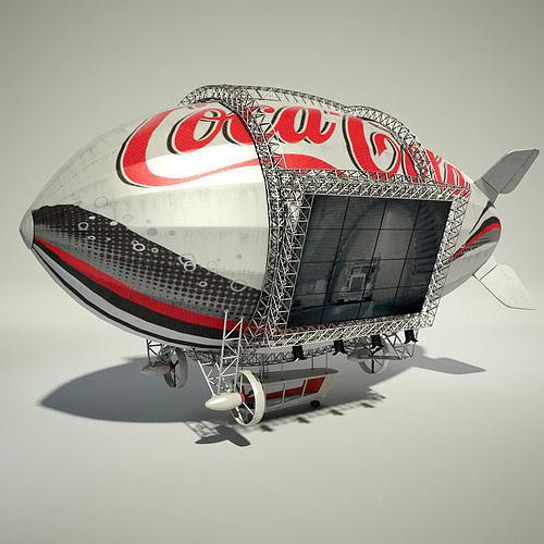Advertising Zeppelin Coke