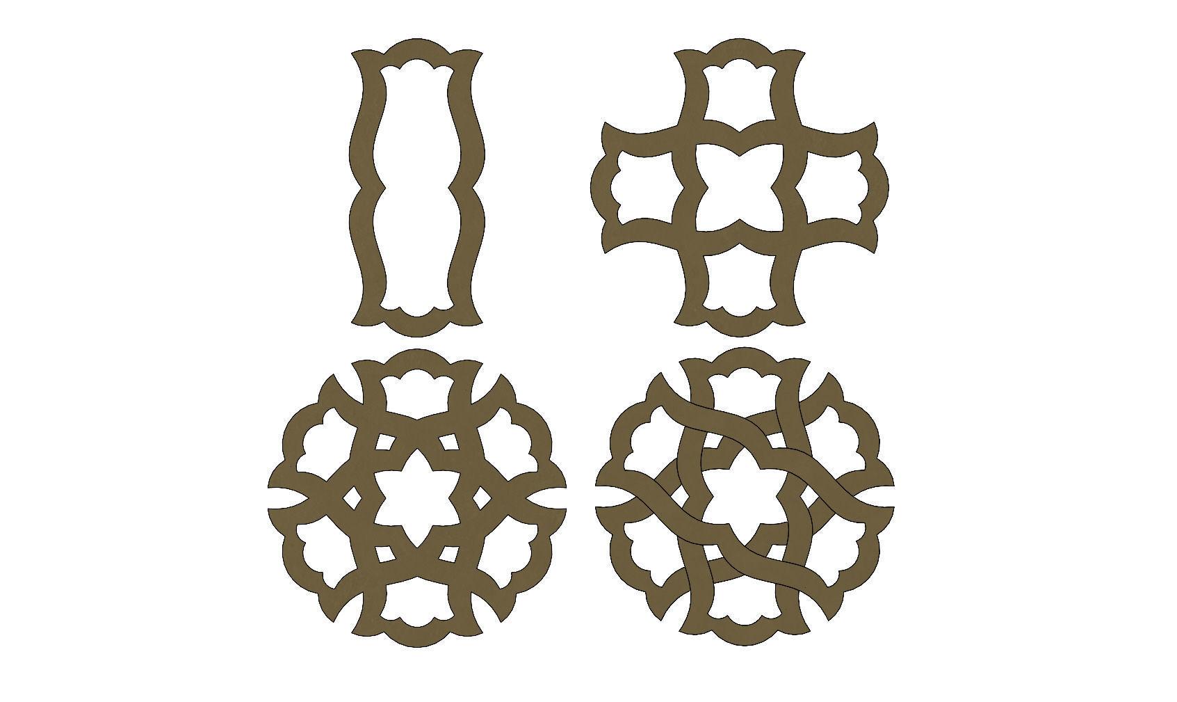 Arabian pattern pendants earrings or charms
