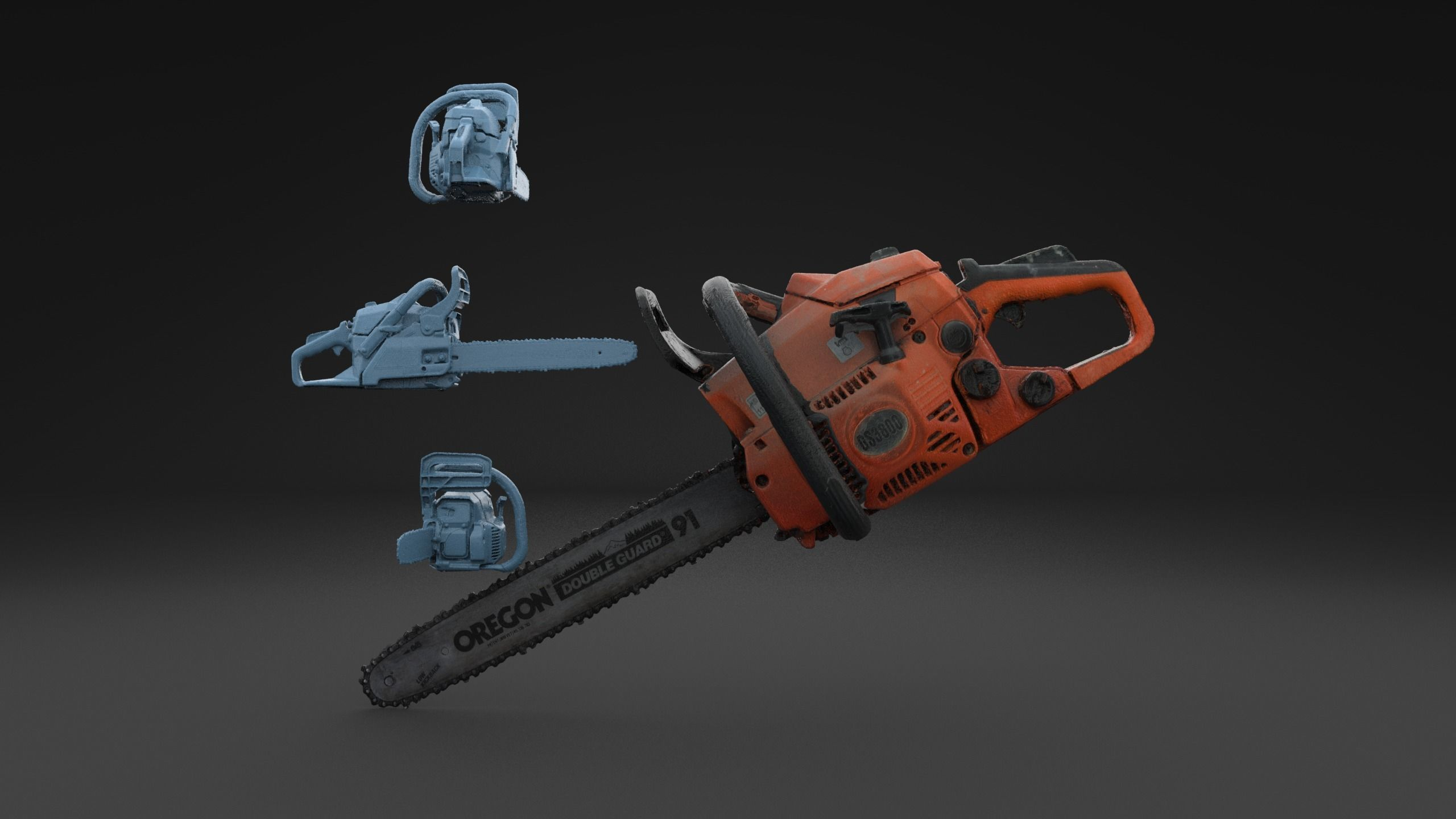 Scanned Chainsaw HIGH POLY