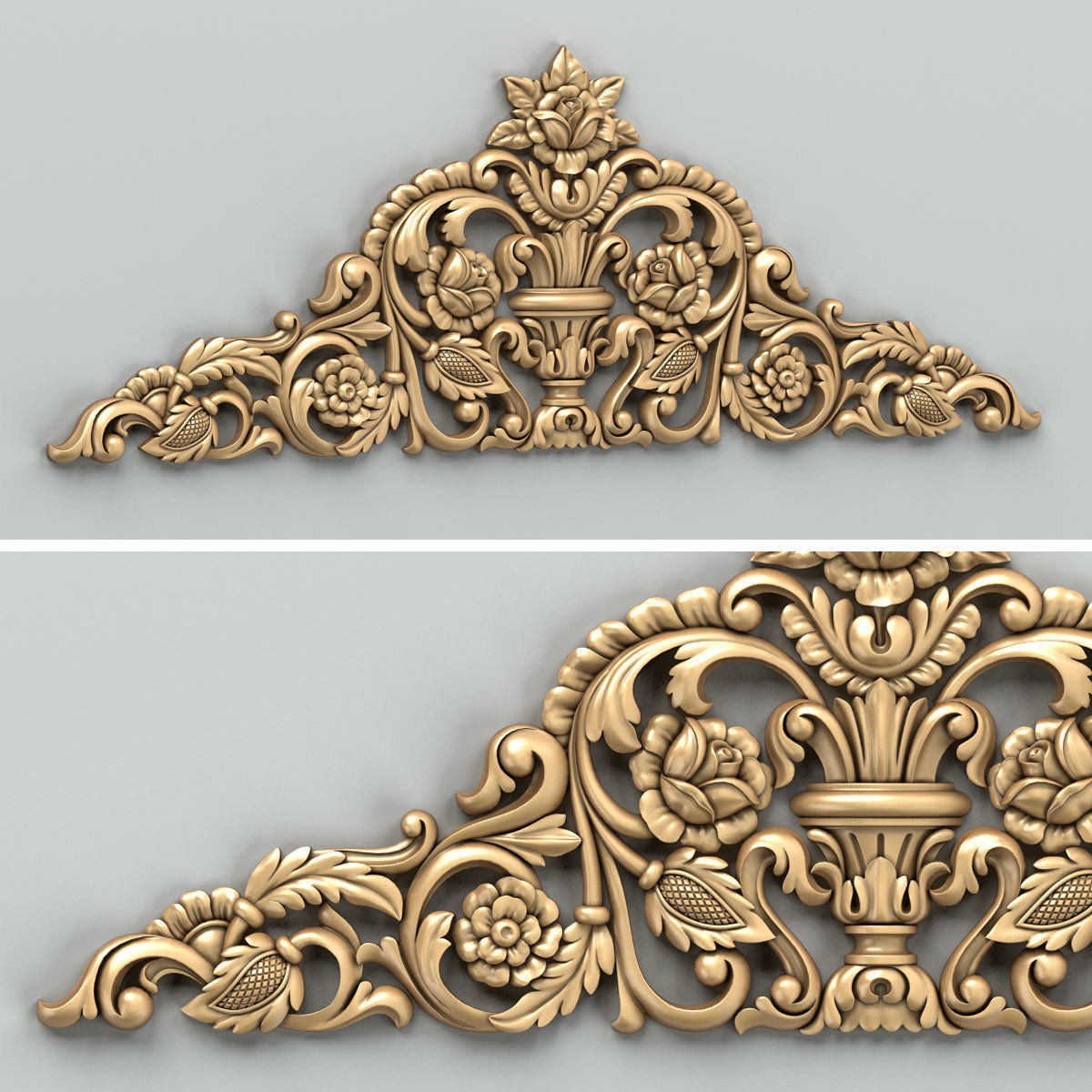 Carved decor horizontal 034