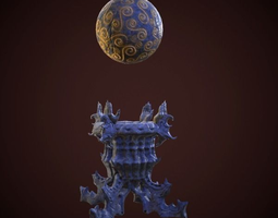 statue magic ball 3d asset game-ready animated