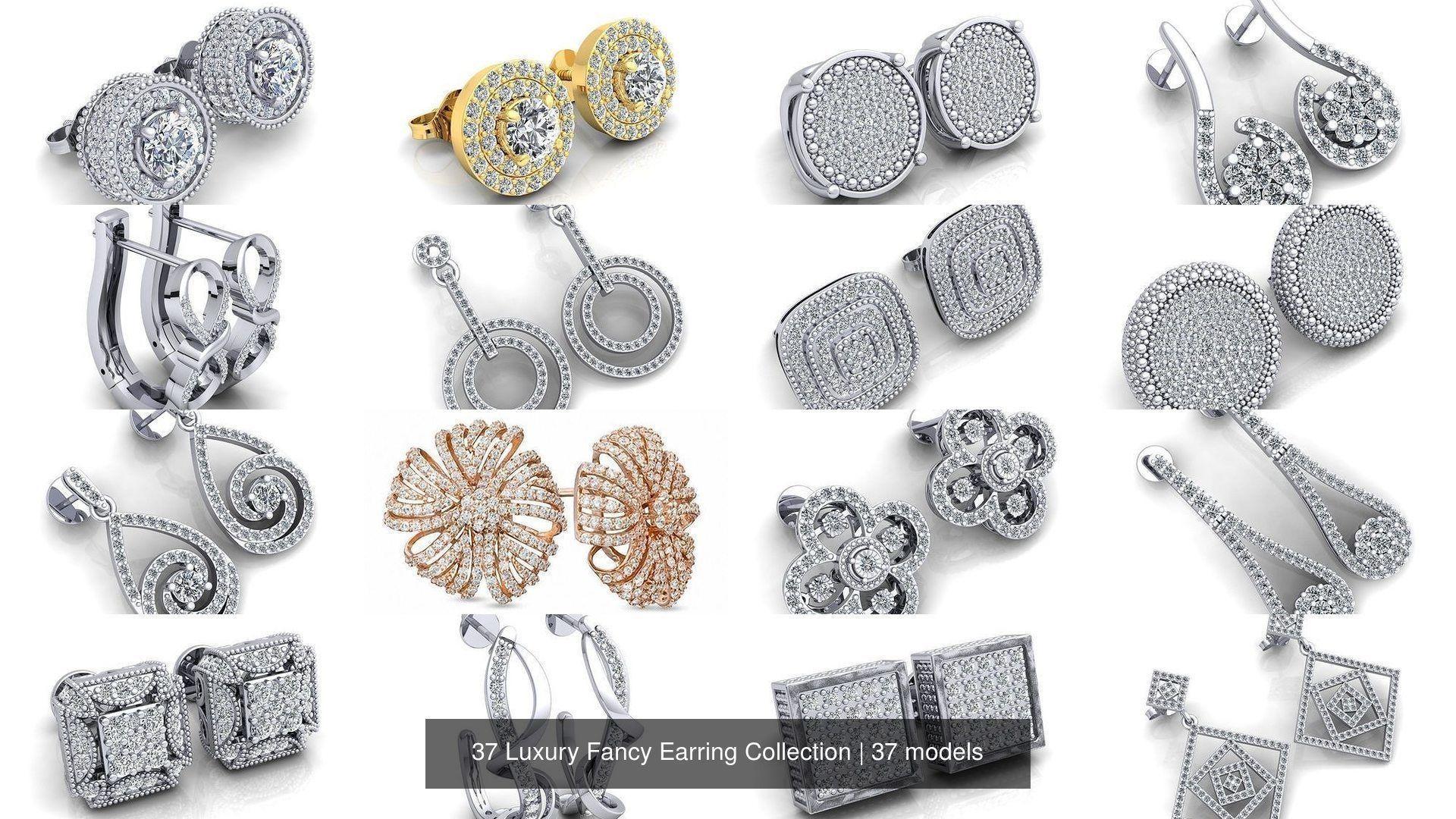 37 Luxury Fancy Earring Collection