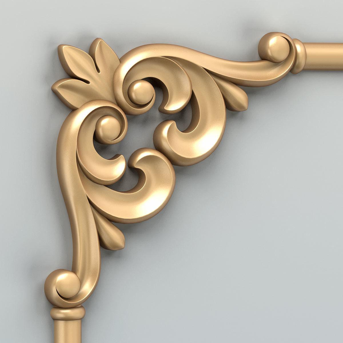 Carved decor corner 012