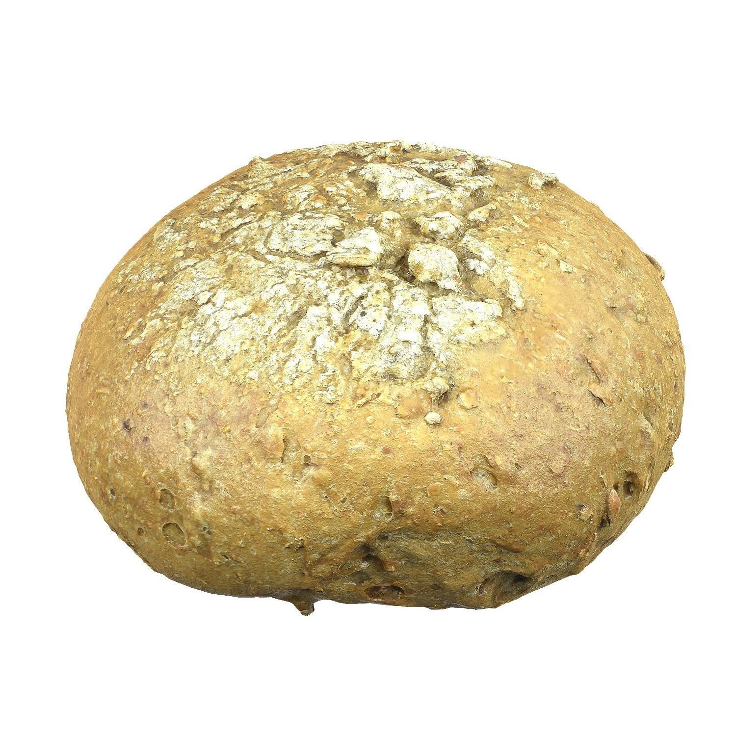 Photorealistic 3D Scanned Rye Bread