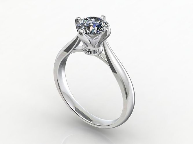 Engagement Ring  STL File Format ready For 3D Printing - CC62