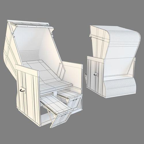 Chaise longue 3d model max obj fbx for Chaise modele