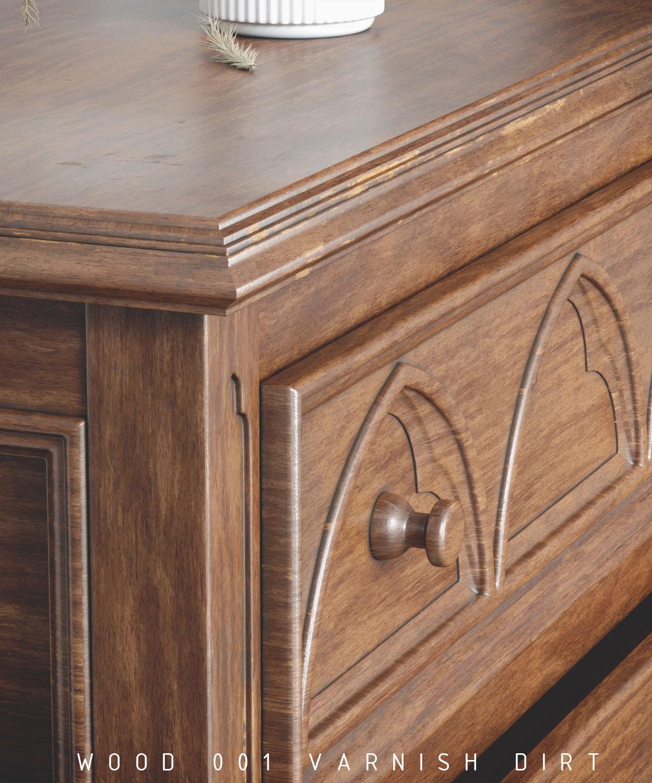 Vray Smart Materials Wood 001 VarnishDirt for 3DS max