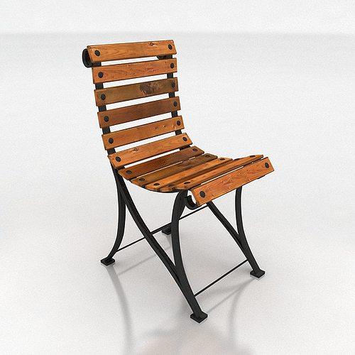 chair 3d model low-poly max fbx 1