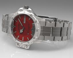 racer diver watch 3d model