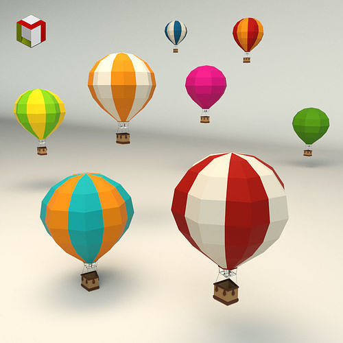 Low Poly Hot Air Balloon