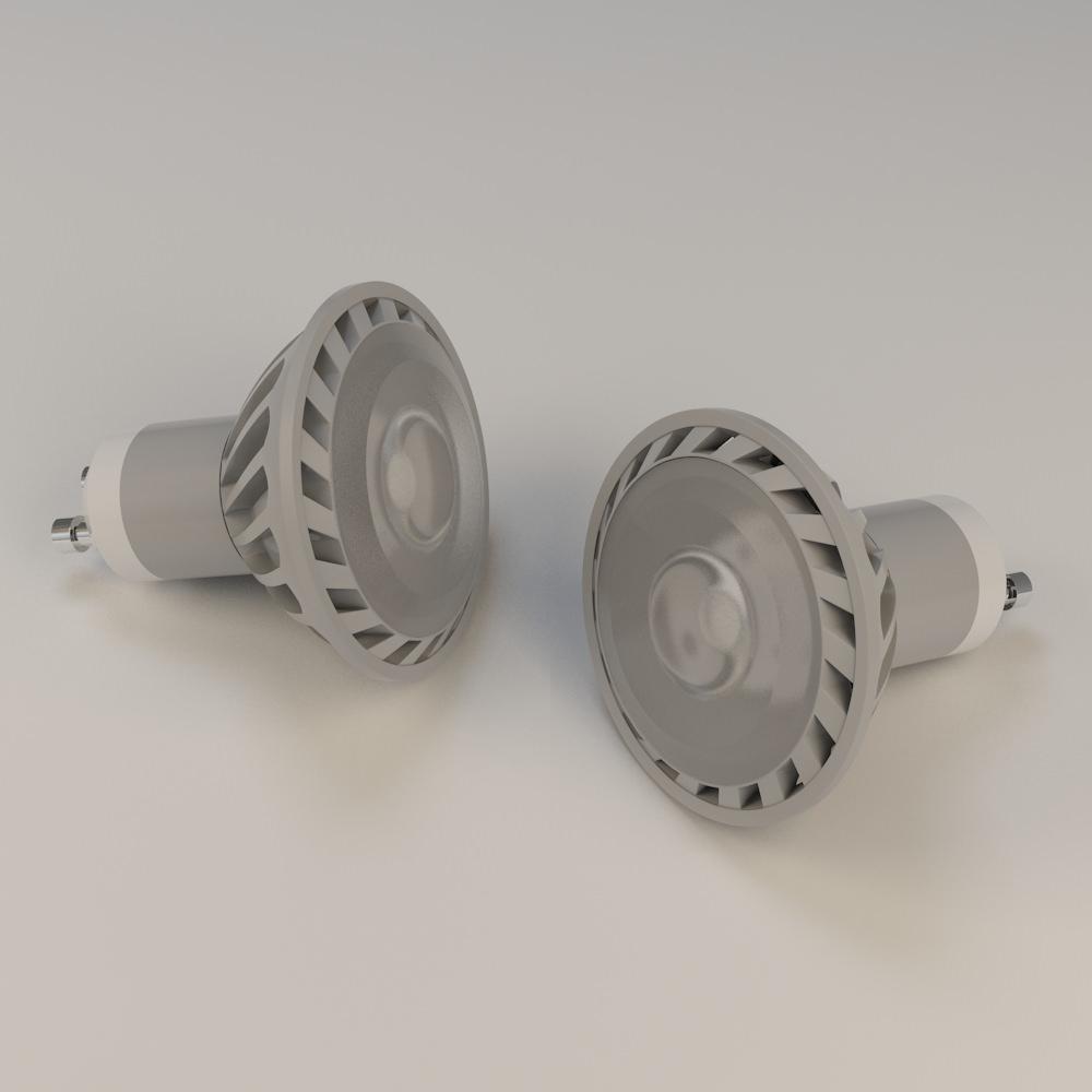 5w gu10 led bulb 3d model max 1
