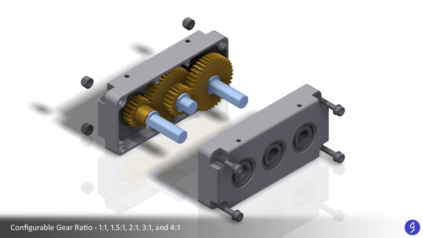 Configurable Two-Stage Gearbox