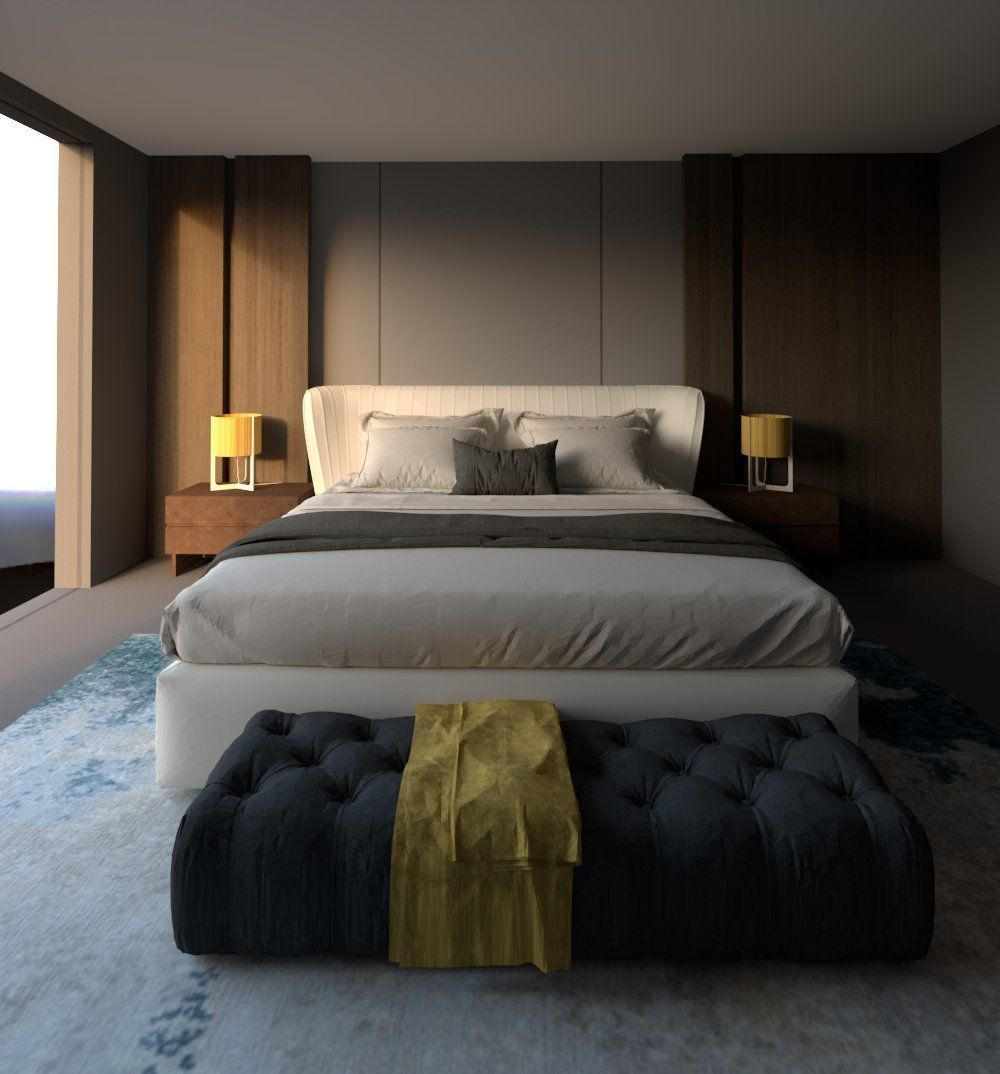 revit double bed 5 model  cgtrader