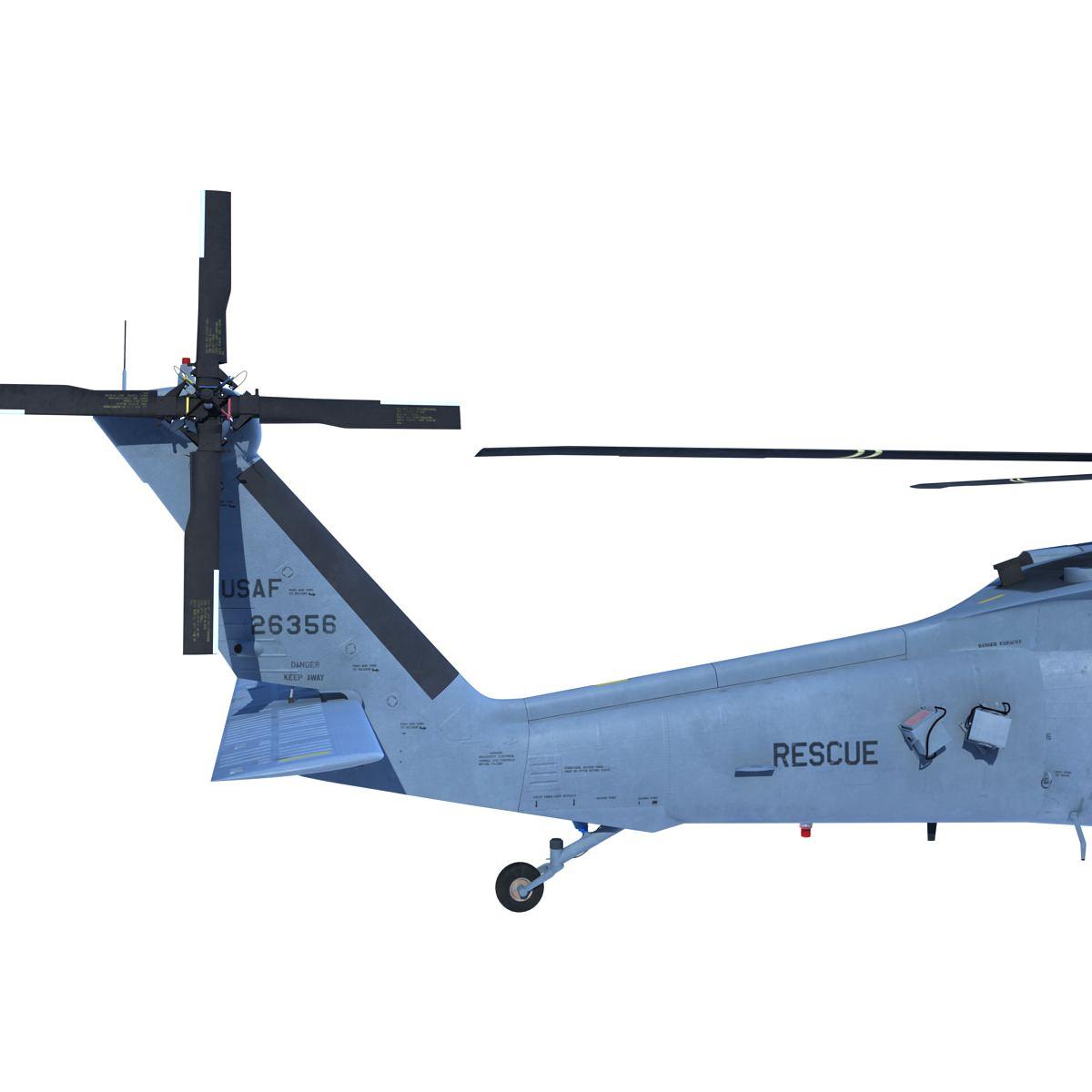 UH-60 Blackhawk 3D Model MAX OBJ FBX C4D MA MB MTL