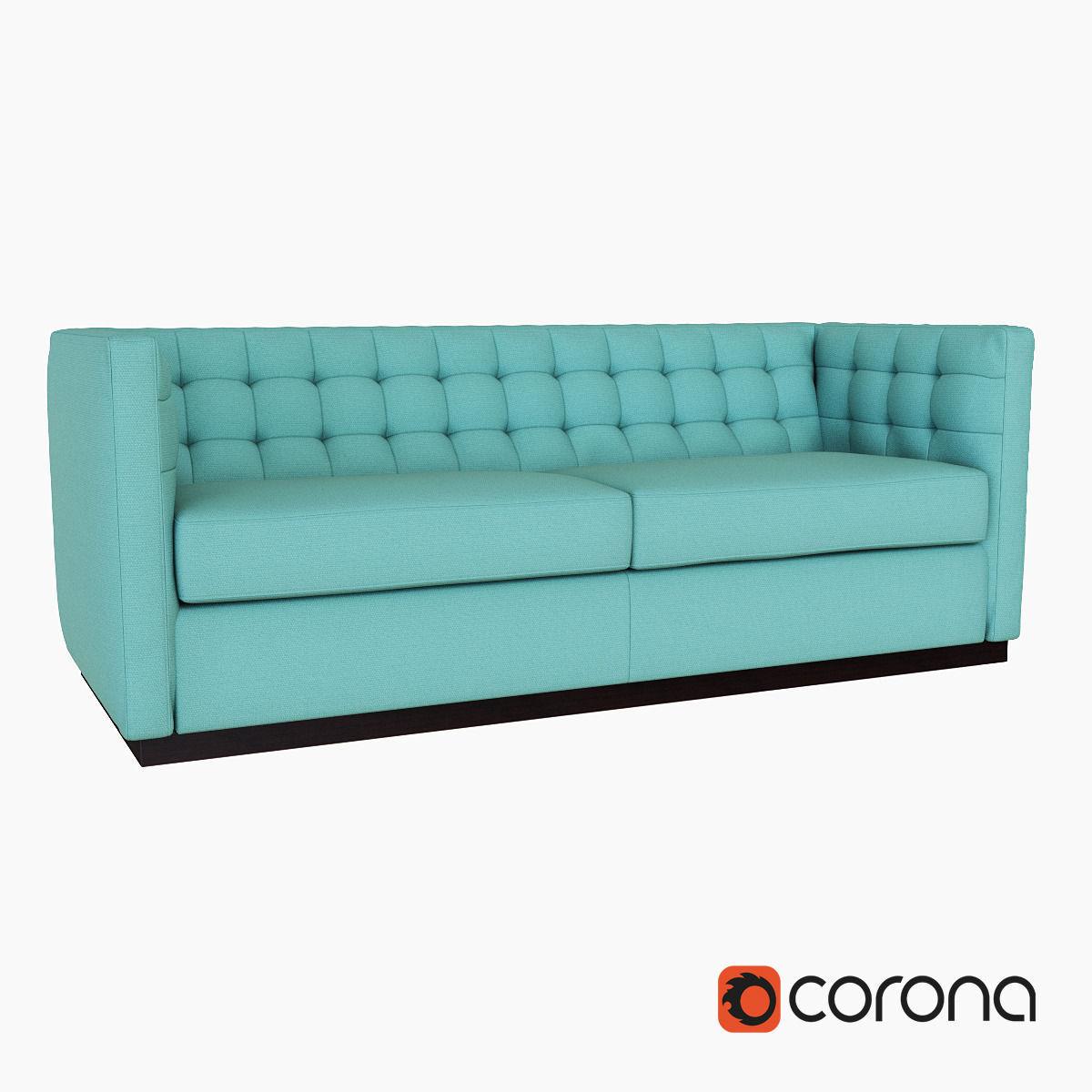 West Elm Rochester Sofa 3d Model Max Obj Fbx Mtl 1 ...