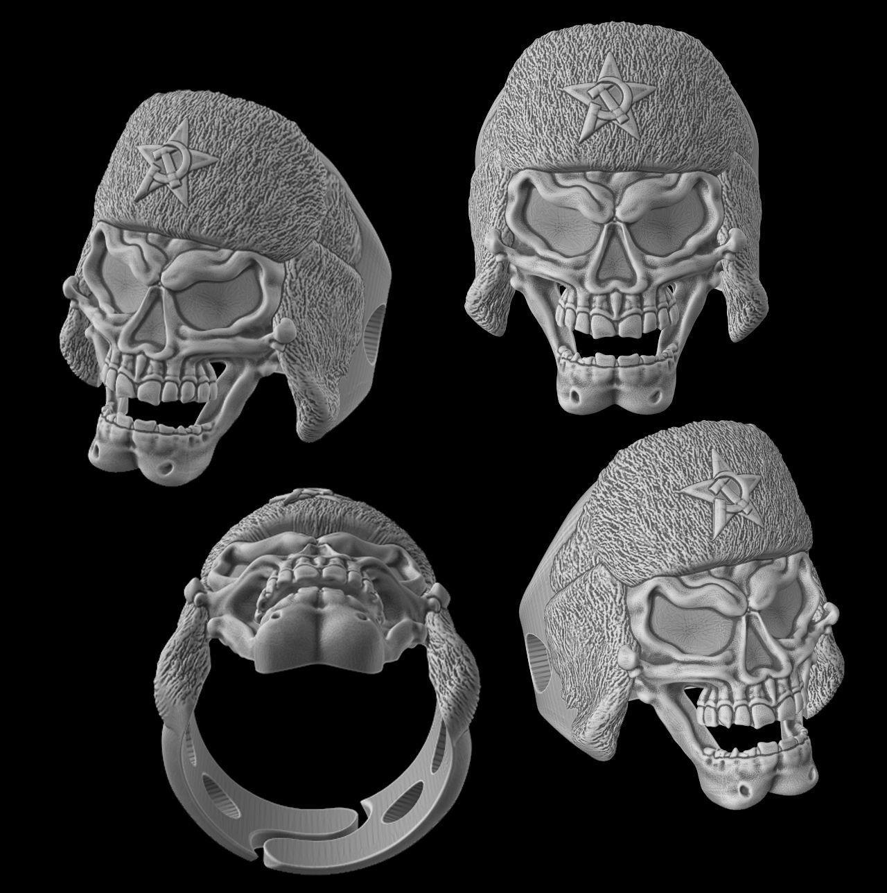 Russian skull ring