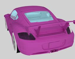 New Pink Porsche Car 3D model
