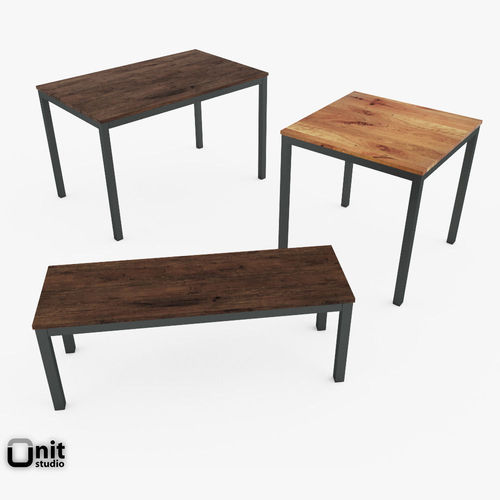 Box Frame Dining Set By West Elm D CGTrader - West elm box frame dining table review