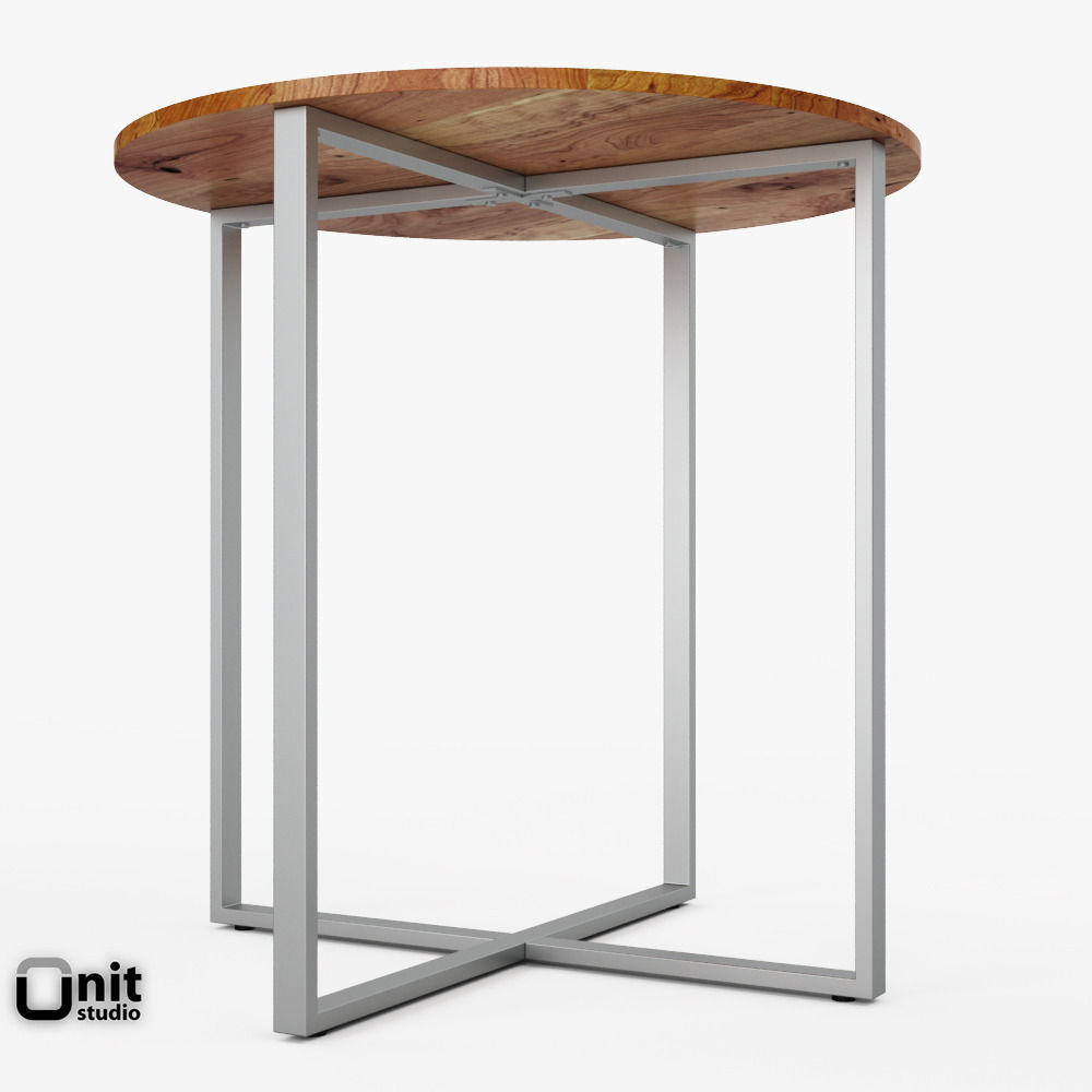 rustic round end table. Rustic Round Counter Table By West Elm 3d Model Max Obj 3ds Fbx Dwg Unitypackage 3 End I