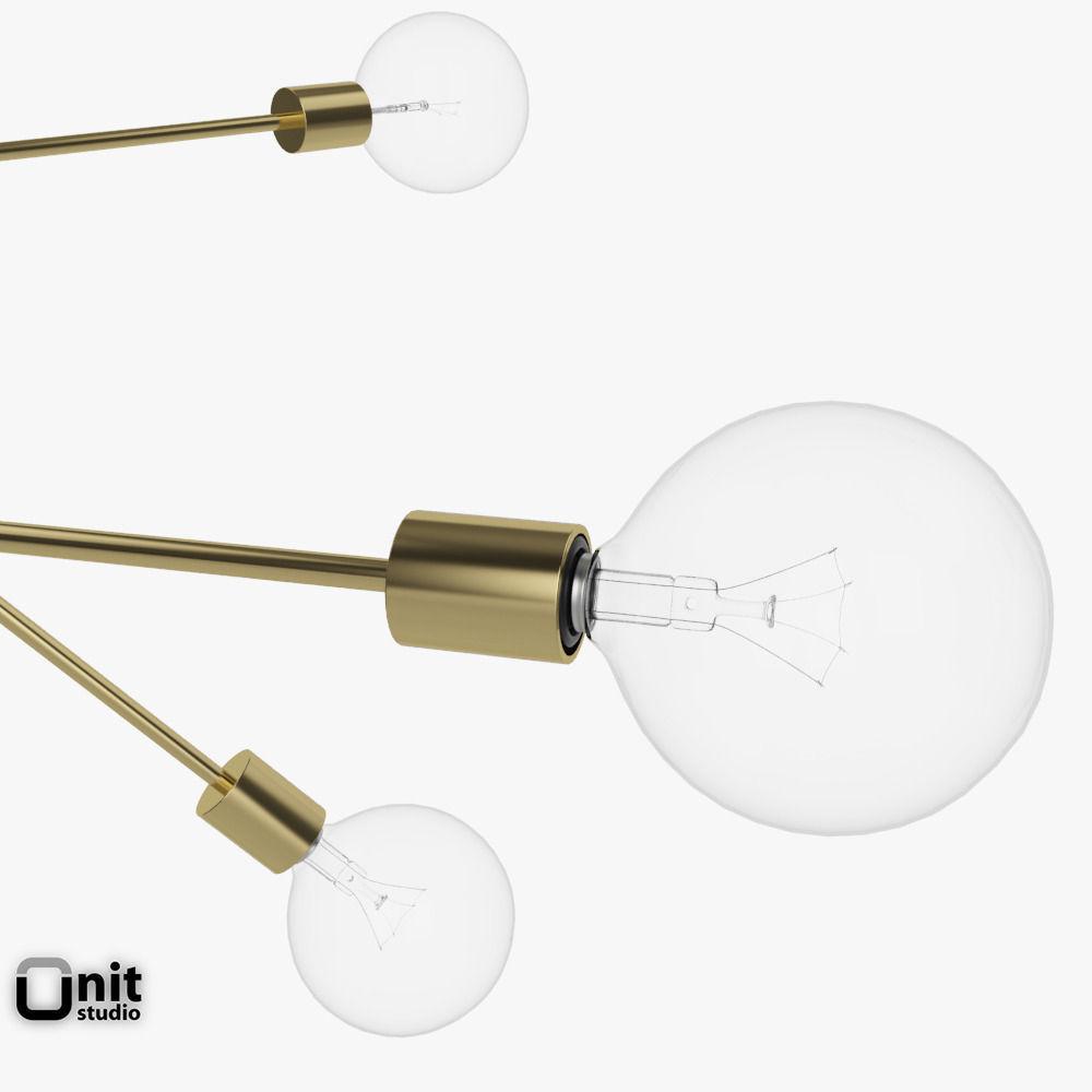 3D model Mobile Chandelier Grand pendant light by West