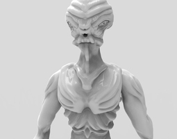 gryealden the alien of a distant planet 3d printable model
