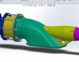 Water Jet drive 3D model