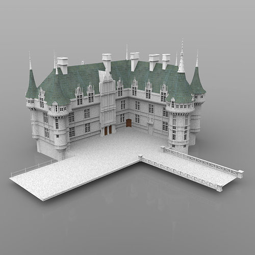 3D historic Chateaux Azay le Rideau | CGTrader