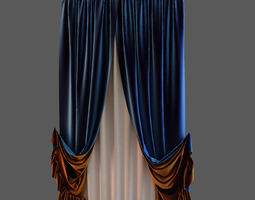 blue cloth 3d