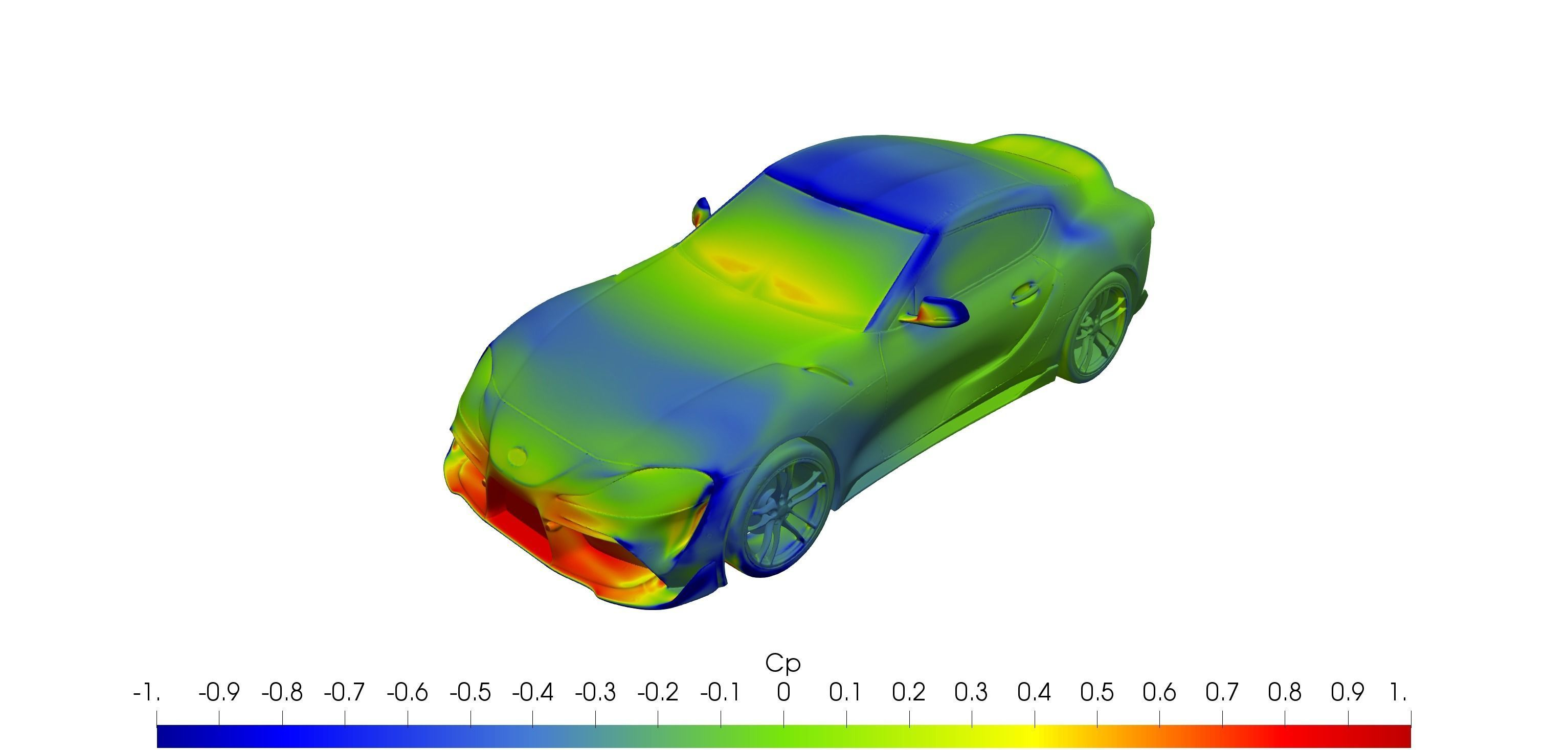 Toyota Supra 2020 solid for CFD or 3D printing 3D model