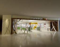 Store office-interior 3D model