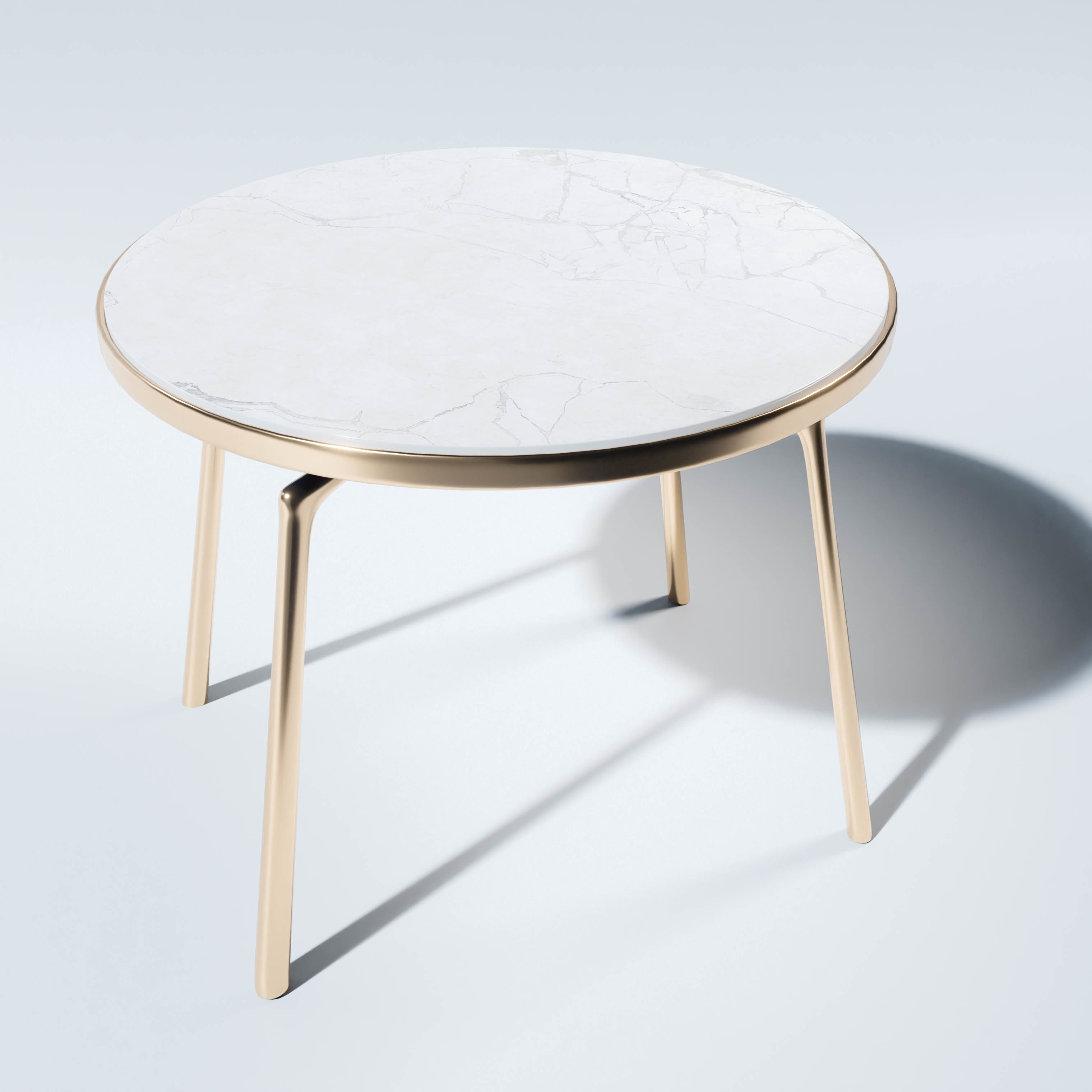 Round Marble Coffee Table With A Golden Base 3d Cgtrader
