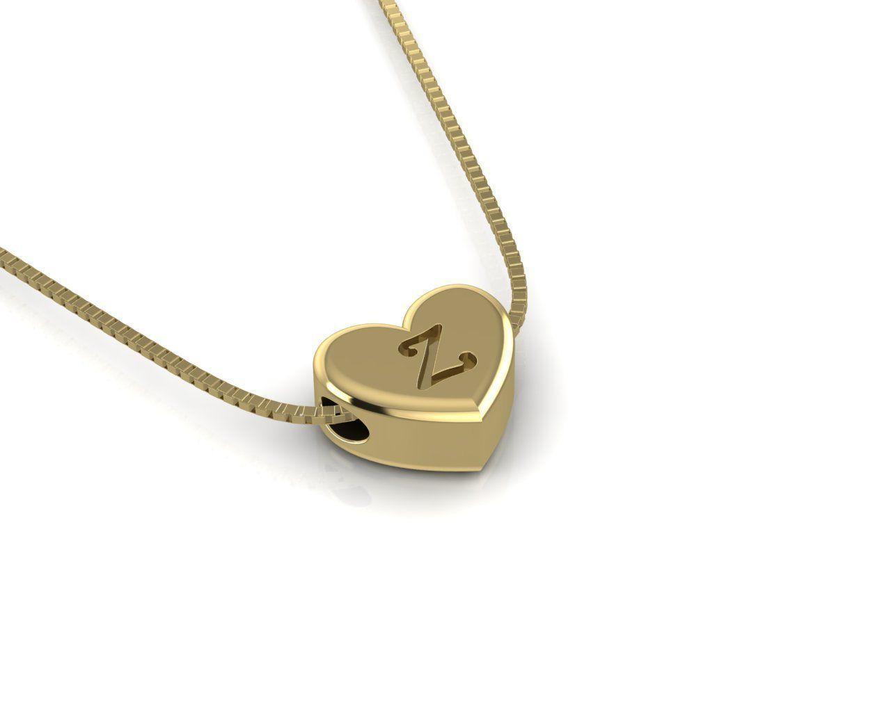 Pendant initial heart Z