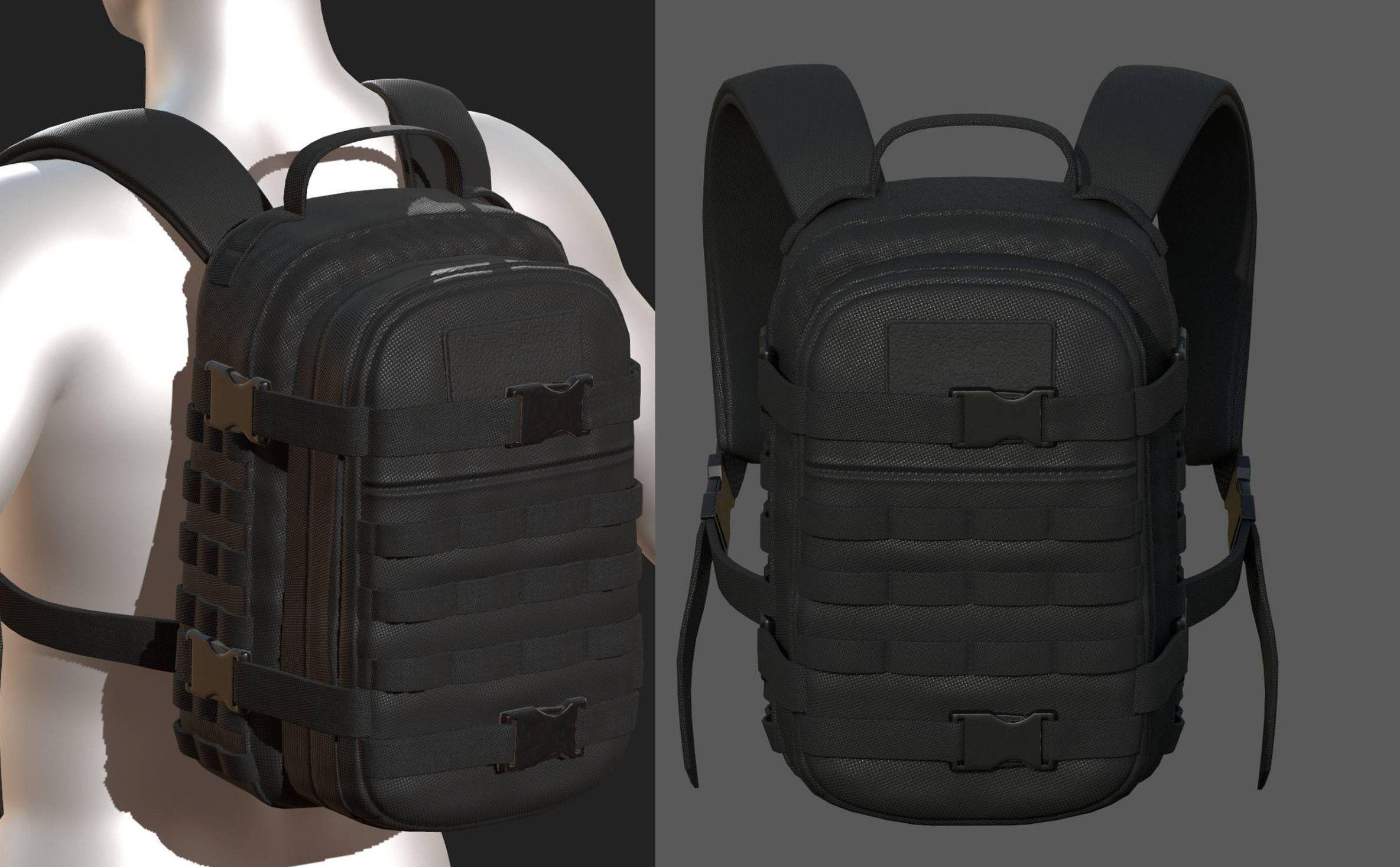 Backpack military combat Black baggage bag luggage