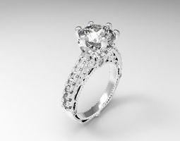 3D print model rings diamond Ring