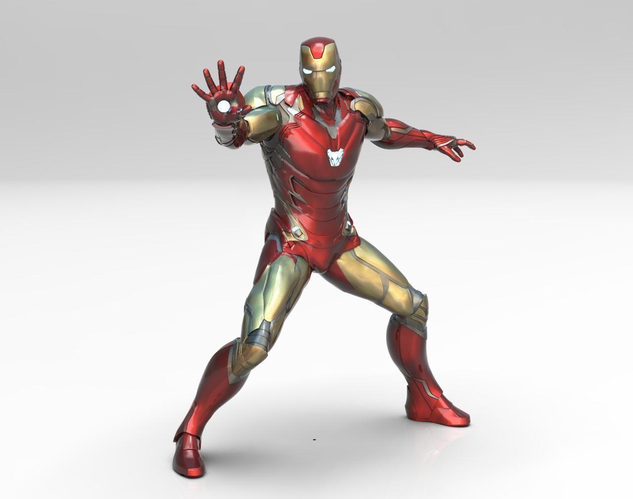 Iron Man MK85 Pose Statue 3D Print Ready