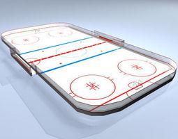 3D Hockey field
