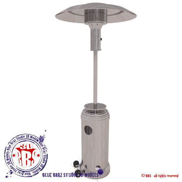 3D model Gas patio heater 12   CGTrader
