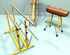 Gymnastic set 3D model