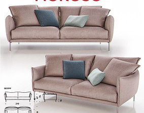 Moroso Gentry GE0599 Sofa 3D model